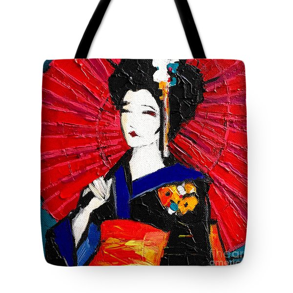 Geisha Tote Bag by Mona Edulesco