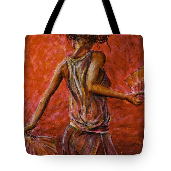 Geisha Fan Dance 02 Tote Bag