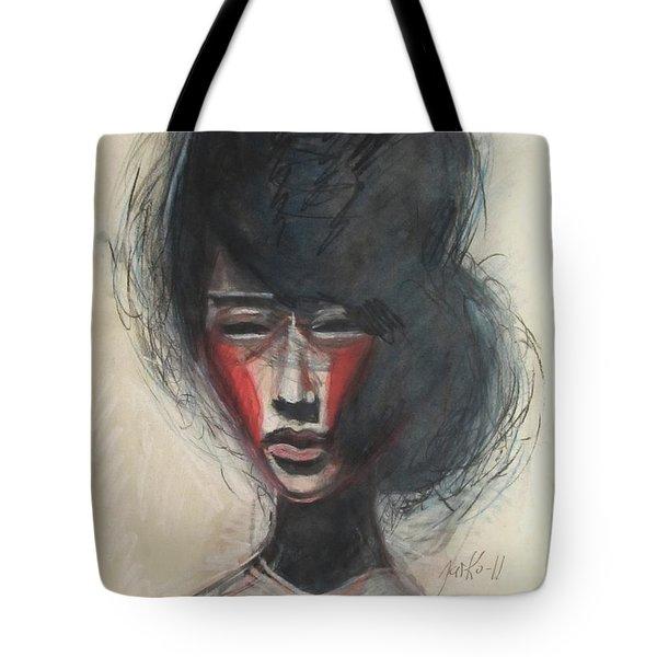 Geisha Make Up Tote Bag