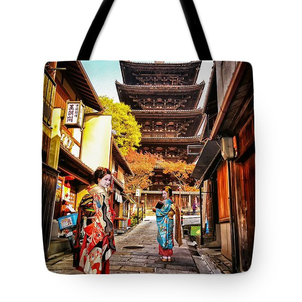 Geisha Temple Tote Bag