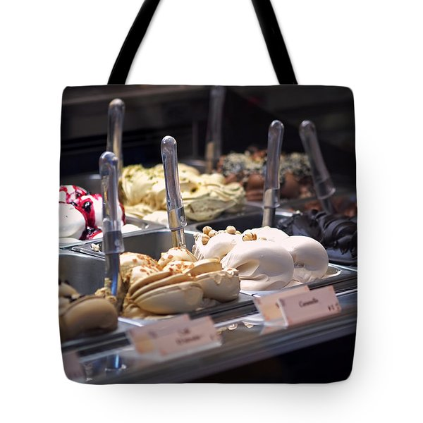 Tote Bag featuring the photograph Gelato by Rona Black