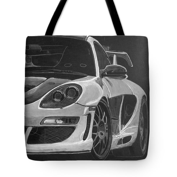Tote Bag featuring the painting Gemballa Porsche Left by Richard Le Page