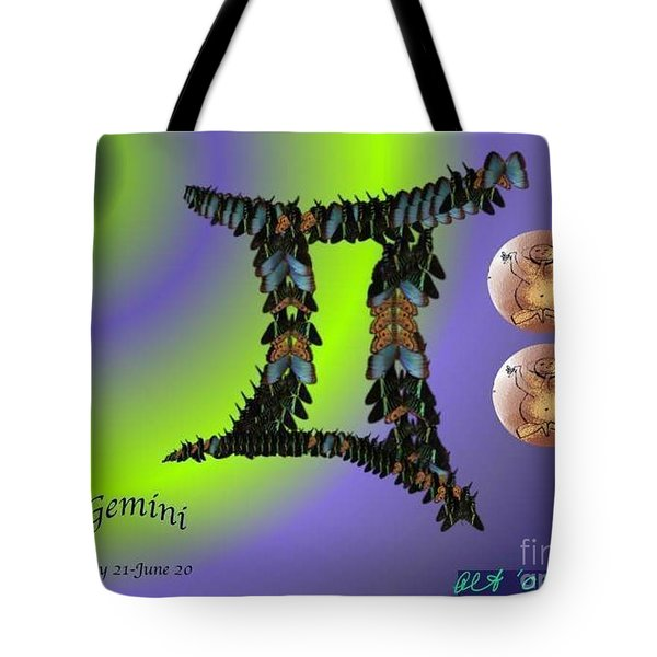Tote Bag featuring the digital art Gemini by The Art of Alice Terrill
