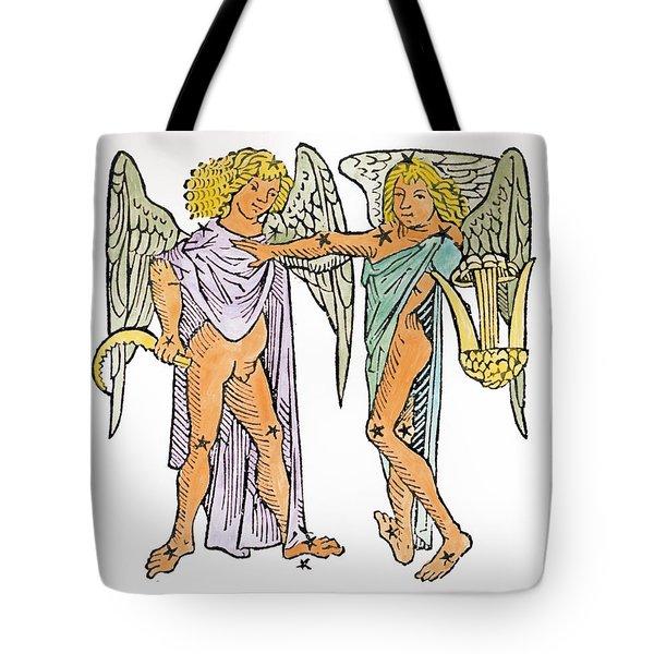 Gemini An Illustration Tote Bag by Italian School
