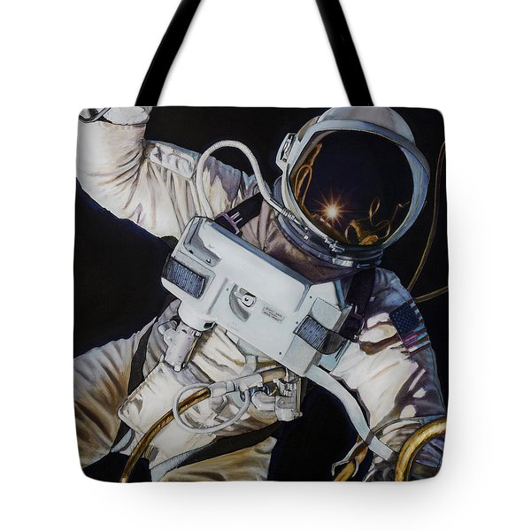 Gemini Iv- Ed White Tote Bag by Simon Kregar