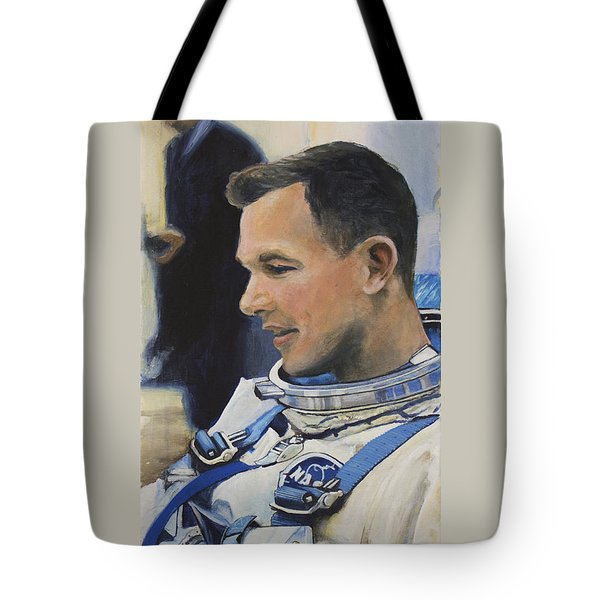 Gemini Viii Dave Scott Tote Bag by Simon Kregar