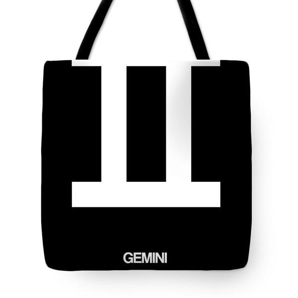 Gemini Zodiac Sign White Tote Bag