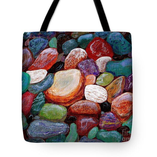 Gemstones Tote Bag by Barbara Griffin