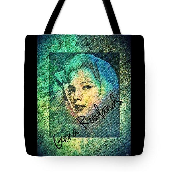 Tote Bag featuring the digital art Gena Rowlands by Absinthe Art By Michelle LeAnn Scott