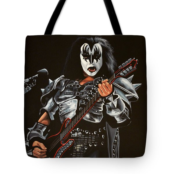 Gene Simmons Of Kiss Tote Bag by Paul Meijering