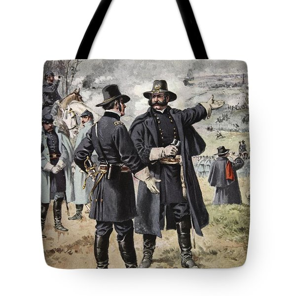 General Burnside At The Battle Tote Bag