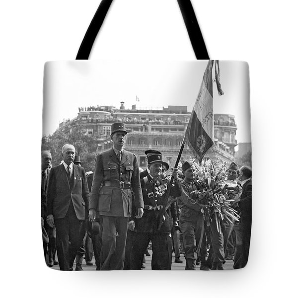 General Charles De Gaulle Tote Bag by Underwood Archives