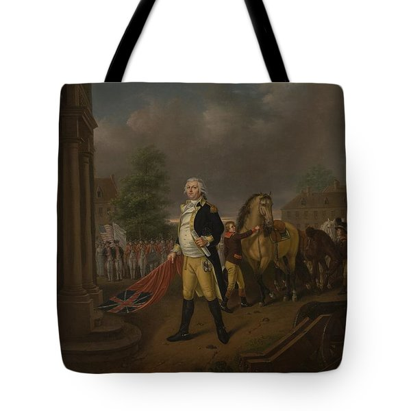 General Humphreys Delivering Tote Bag by Nicolas Louis Albert Delerive