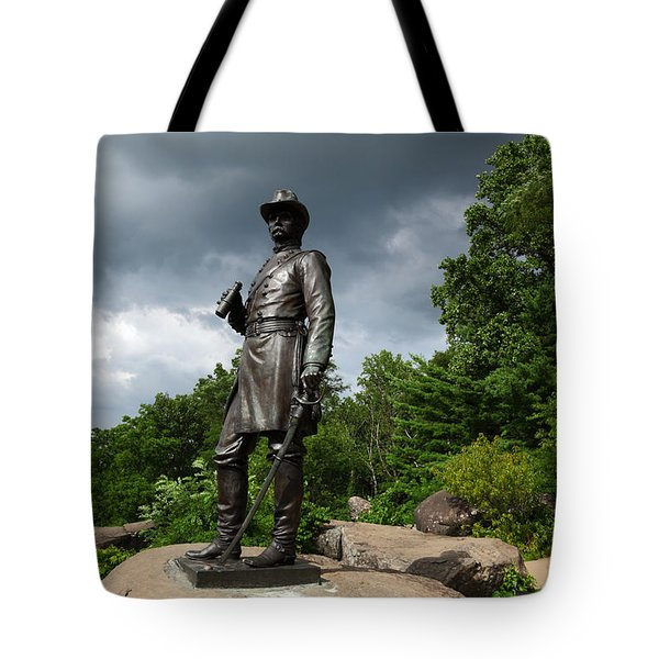 General K Warren Monument Gettysburg Tote Bag by James Brunker