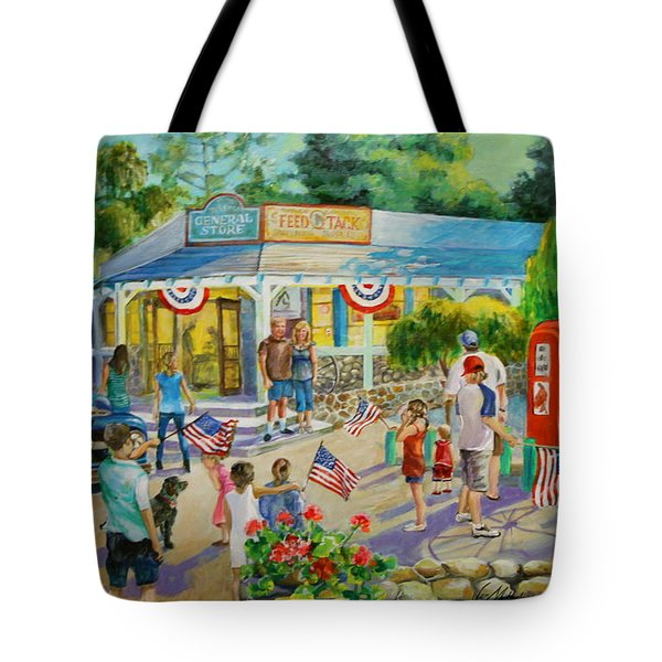 General Store After July 4th Parade Tote Bag by Jan Mecklenburg