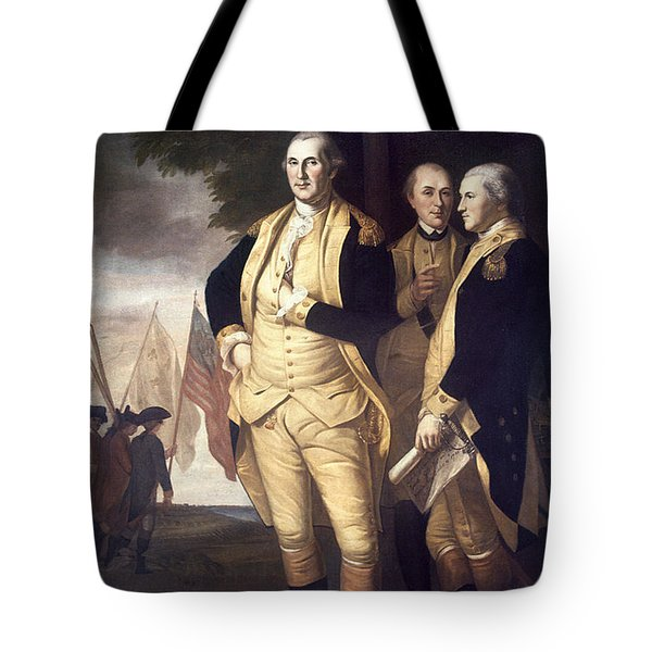 Generals At Yorktown, 1781 Tote Bag by Granger