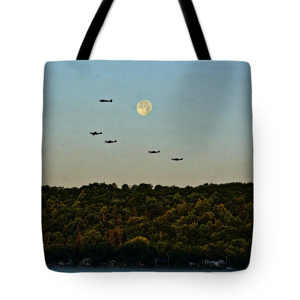 Geneseo Air Show Tote Bag by Richard Engelbrecht