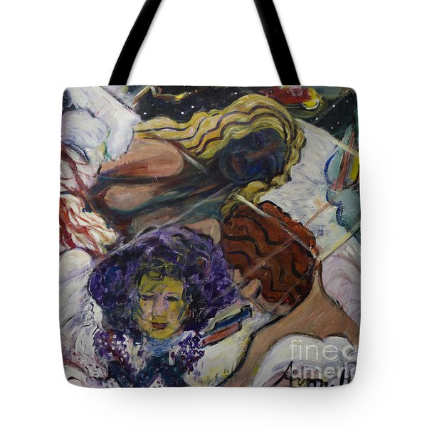 Tote Bag featuring the painting Wind Whisperers  by Avonelle Kelsey