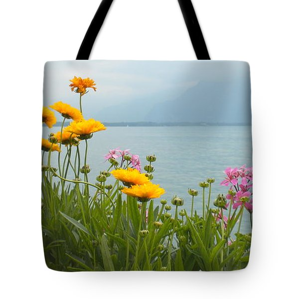 Geneva Flowers Tote Bag by Teresa Tilley