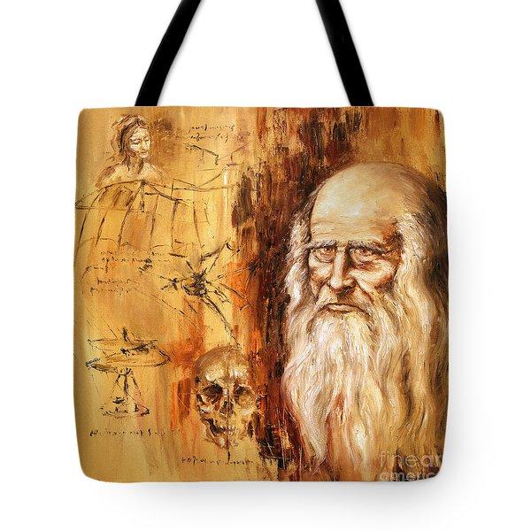 Genius   Leonardo Da Vinci Tote Bag