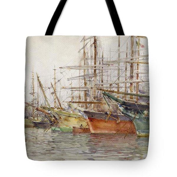 Genoa Harbour, 1904 Tote Bag by Henry Scott Tuke