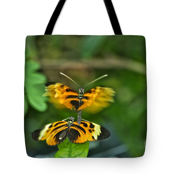 Tote Bag featuring the photograph Gentle Butterfly Courtship 03 by Thomas Woolworth
