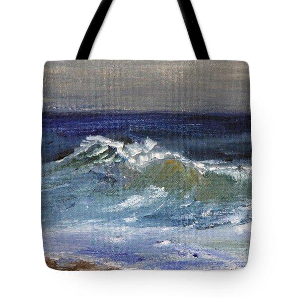 Gentle Cape Cod Wave Tote Bag
