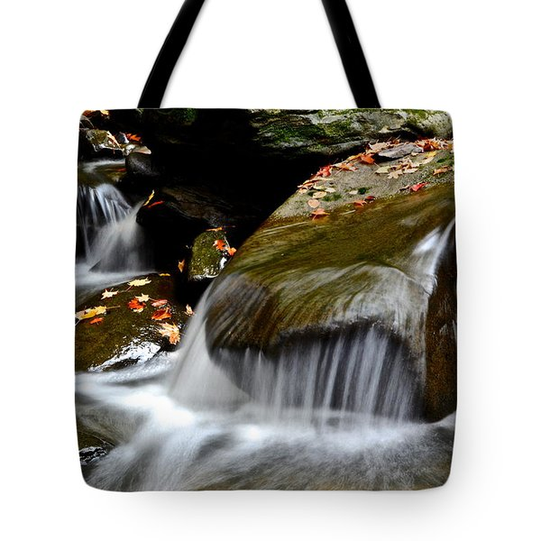 Gentle Falls Tote Bag by Frozen in Time Fine Art Photography