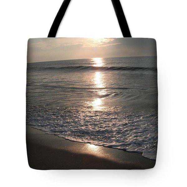 Ocean - Gentle Morning Waves Tote Bag by Susan Carella