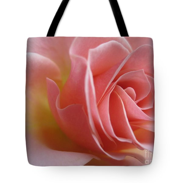 Gentle Pink Rose Tote Bag