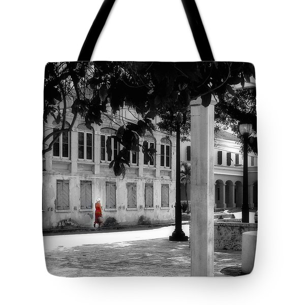 Tote Bag featuring the photograph Gentle Warrior On Strand Street by EDi by Darlene