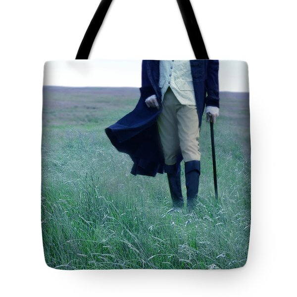 Gentleman Walking In The Country Tote Bag by Jill Battaglia