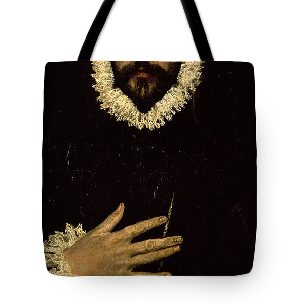 Gentleman With His Hand On His Chest Tote Bag