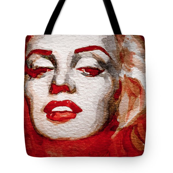 Tote Bag featuring the painting Gentlemens Prefer Blondes by Laur Iduc