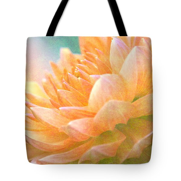 Gently Textured Dahlia  Tote Bag