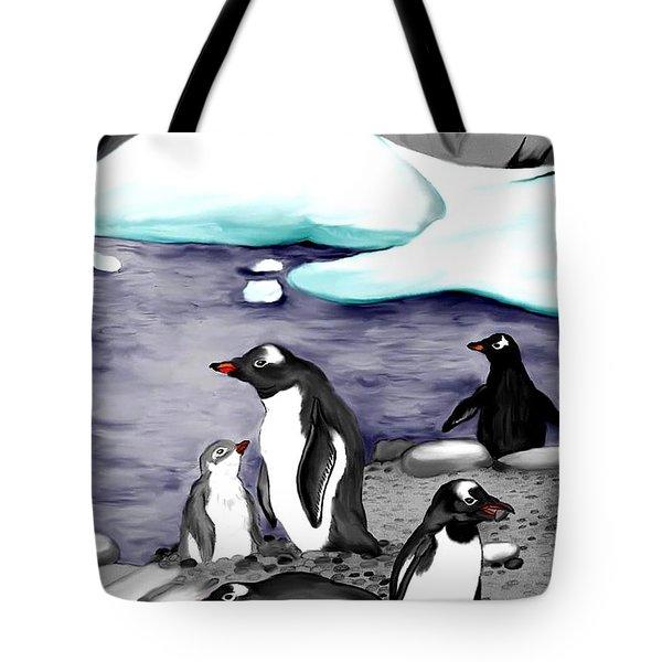 Gentoo Penguins Tote Bag