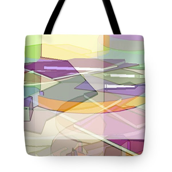 Tote Bag featuring the digital art Geo-art by Cathy Anderson