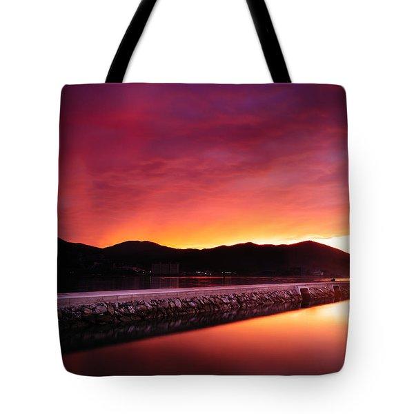 Geoje Skyfire Tote Bag