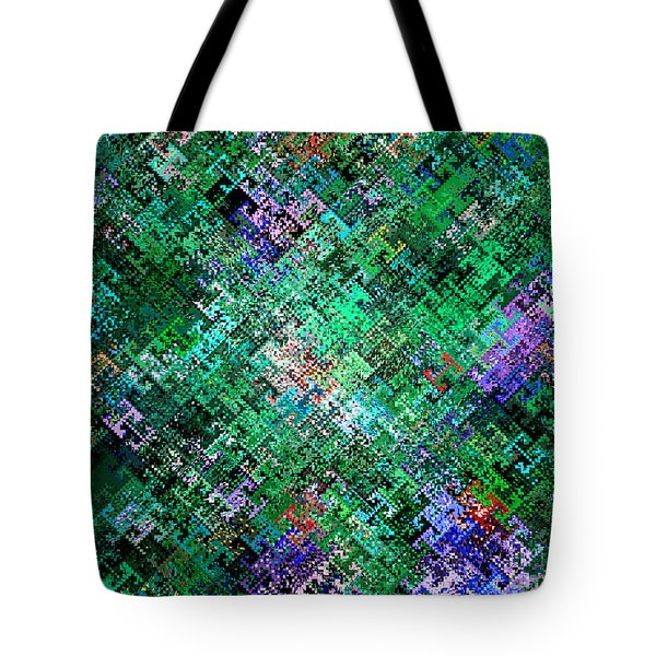 Tote Bag featuring the digital art Geometric Abstract by Mariarosa Rockefeller