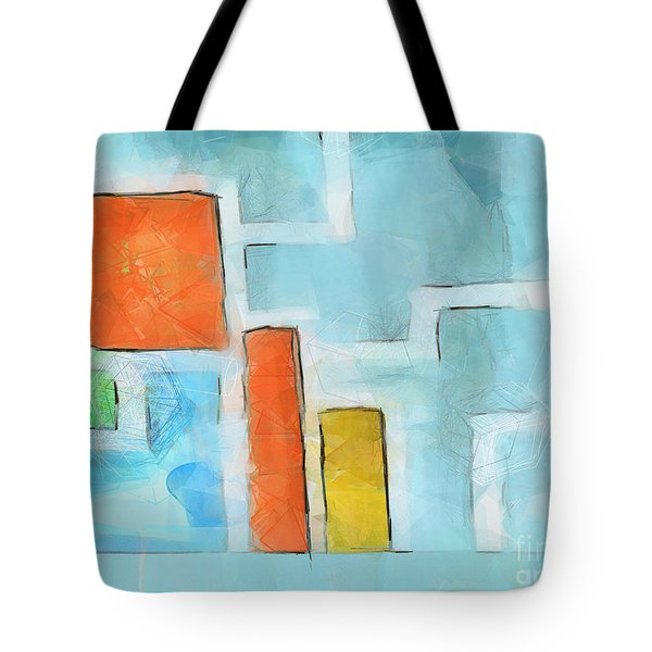 Geometric Abstract Tote Bag by Pixel Chimp