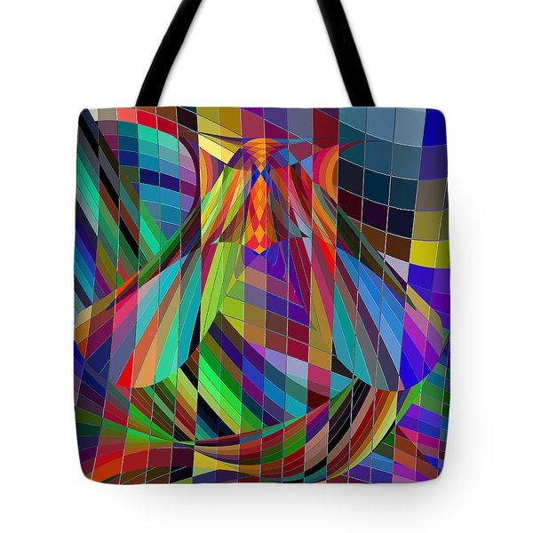 Geometric Alien Fly Tote Bag