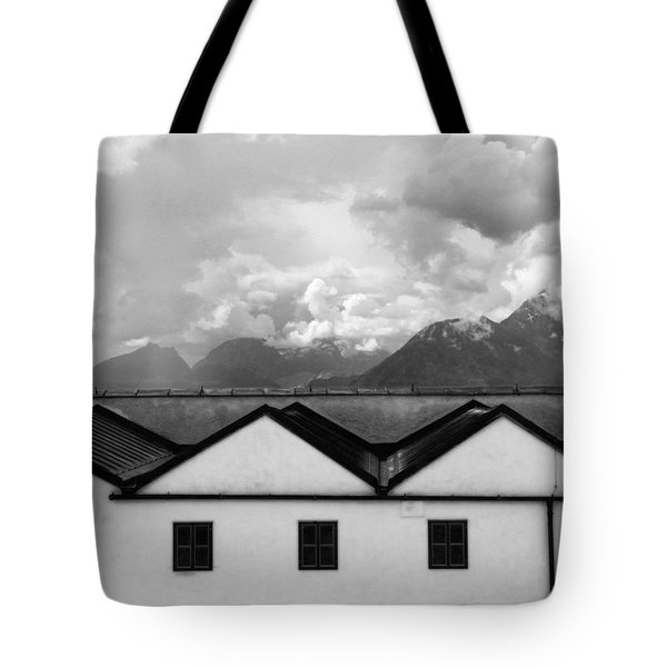 Geometric Architecture In Black And White Tote Bag by Brooke T Ryan