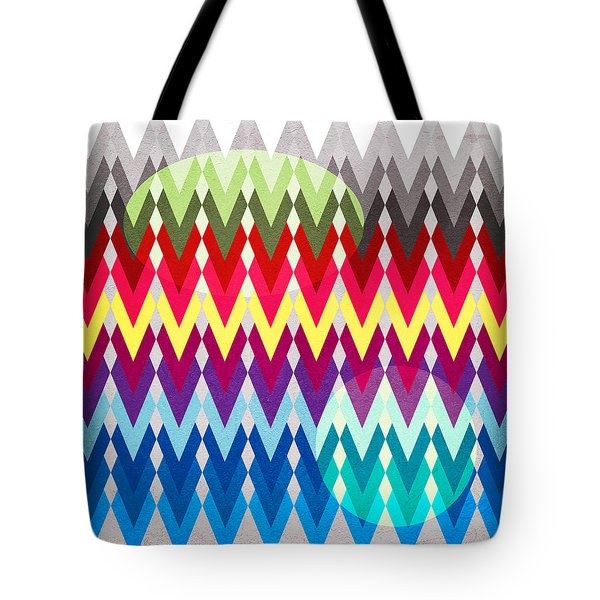 Geometric Colors  Tote Bag by Mark Ashkenazi