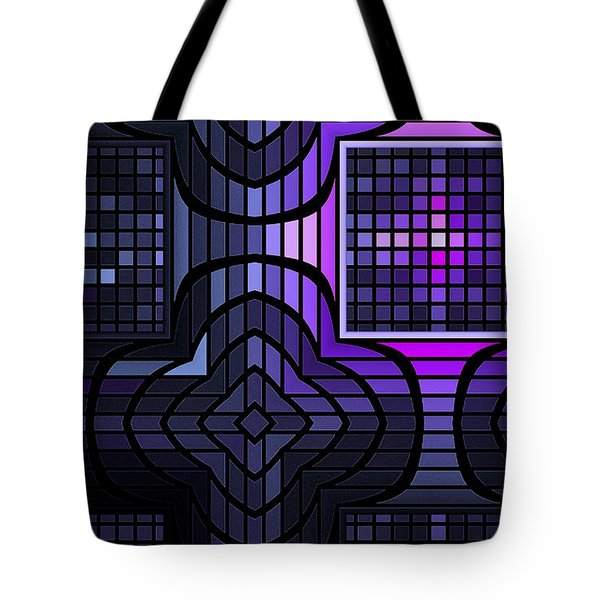 Tote Bag featuring the digital art Geometric Stained Glass by GJ Blackman
