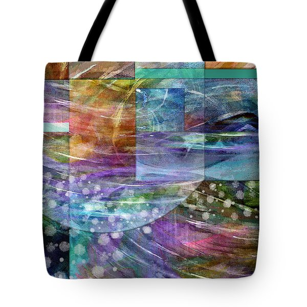 Geometric Winter Tote Bag