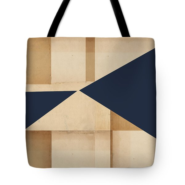 Geometry Indigo Number 4 Tote Bag