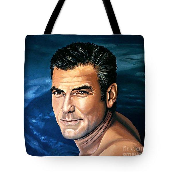 George Clooney 2 Tote Bag by Paul Meijering