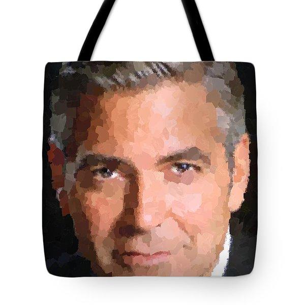 George Clooney Portrait Tote Bag