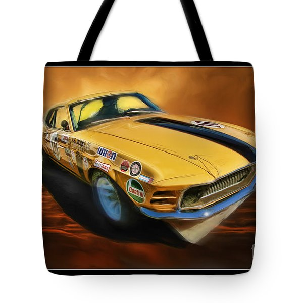 George Follmer 1970 Boss 302 Ford Mustang Tote Bag