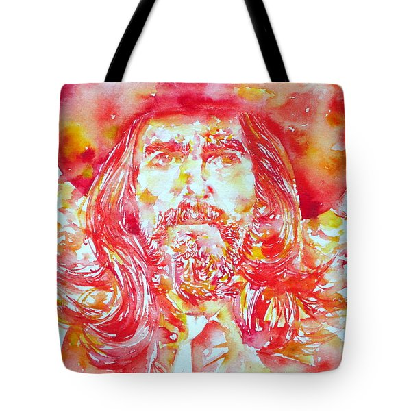 George Harrison With Hat Tote Bag by Fabrizio Cassetta